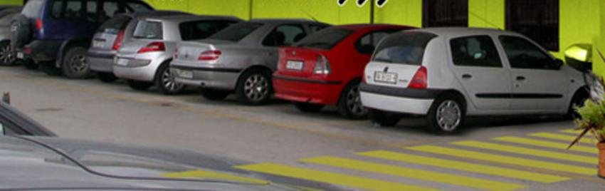 Goldcar car rental office in Madrid, Spain