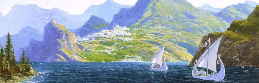 God's land in the Silmarillion, illustration by Ted Nasmith
