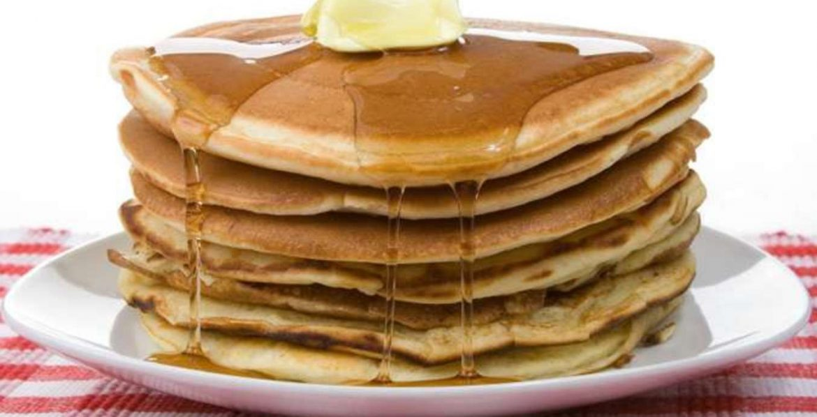 Pancakes for a typical American breakfast