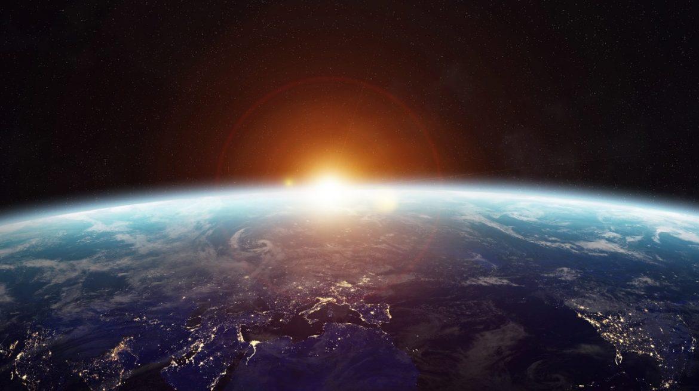Sun at Earth's horizon